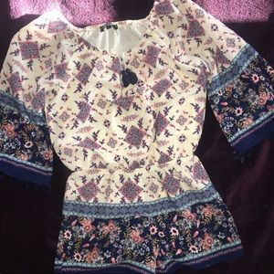 My Michelle Girls Floral Shorts Romper